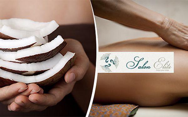 Exotická indonéská Bali aroma kokosová masáž v luxusním salonu Elite