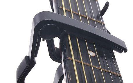 Černý kapodastr na akustickou i elektrickou kytaru a poštovné ZDARMA! - 9003215