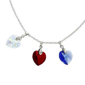 Dámský náhrdelník se třemi srdíčky Art de France