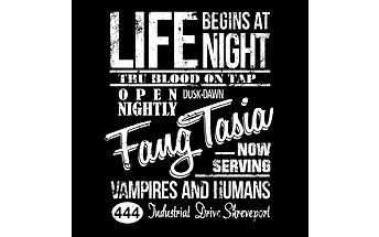 """Tričko Fangtasia - výběr toho nejlepšího, co jste mohli v rámci seriálu """"True Blood"""" vidět"""