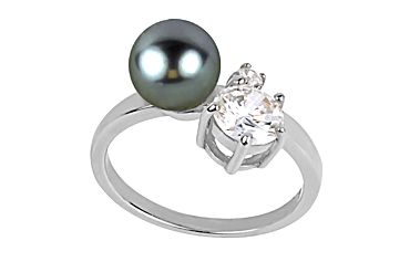 Dámský prsten s perlou a krystalem Art de France