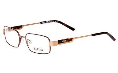 Pánské zlato-hnědé brýle Replay