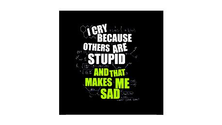 Tričko I'm sad - inspirováno hláškou Dr. Sheldona Coopera ze seriálu The Big Bang Theory.