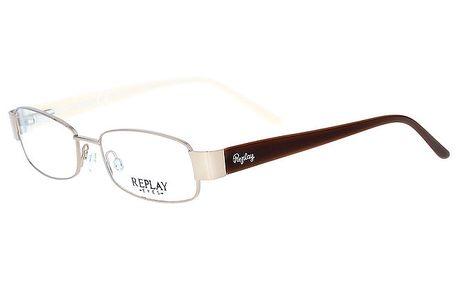 Dámské brýle s hnědými stranicemi Replay