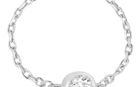 Dámský řetízkový prstýnek s krystalem Art de France