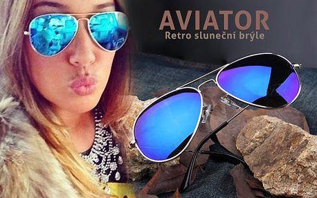 Retro sluneční brýle Aviator s dopravou zdarma