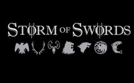 Tričko Storm of Swords - vytvořené speciálně ke třetí sérii seriálu Game of Thrones pro opravdu skalní fanoušky tohoto osobitého seriálu