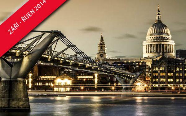 Užijte si s Pelikan.cz 4denní prodloužený víkend v Londýně, zpáteční letenka, ubytování v hotelu se snídaní!