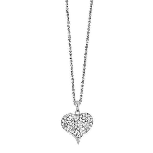 Dámský náhrdelník se třpytivým srdcem Art de France