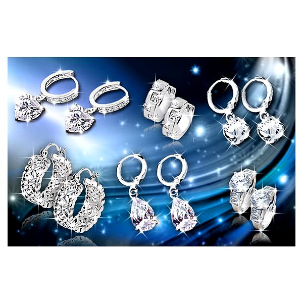Náušnice s třpytivými krystaly La Diamantina