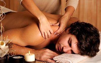 Hodinová razantní masáž zad a šíje pro muže k uvol...