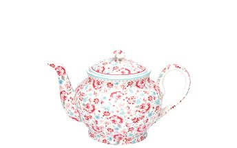 Krásná porcelánová konvice na čaj Malou flower white