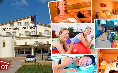 Nádherné České Středohoří! Relaxační pobyt pro 2 osoby na 3 dny s polopenzí v krásném Sporthotelu Patriot****! V ceně bowling + koktejl, sauna, vstup do solária, fitness a mnoho dalšího! Užijte si relax v nádherné přírodě až do 30.8.2014!