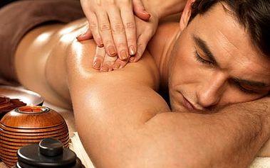 90 minutová razantní celotělová masáž pro muže k ...