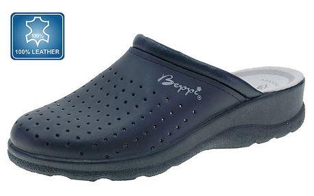 Dámské tmavě modré pantofle s plnou špičkou Beppi