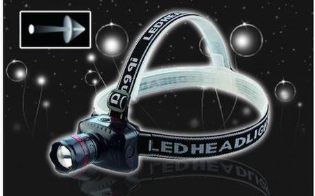 Vysoce svítivá čelová lampa s dosvitem až 150 metrů! Spolehlivá čelovka pro večerní cesty přírodou, pozdní návraty pešky, na kolo, rybaření, dětské tábory aj.