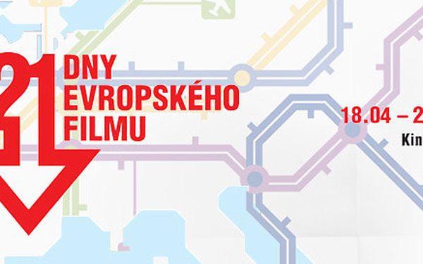2 lístky na film festivalu Dny evropského filmu (Brno)