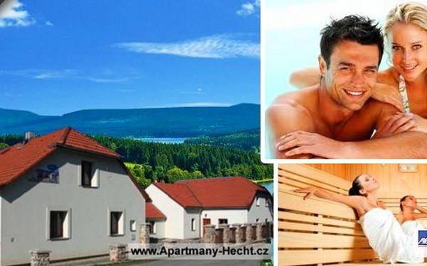Lipno - Wellness pobyty v apartmánech Hecht s krásným výhledem na jezero včetně polopenze, wellness - bazén, sauna, dále masáž, welcome drink a Lipno Card!! Užijte si jarní dny v tomto krásném koutě naší republiky!!