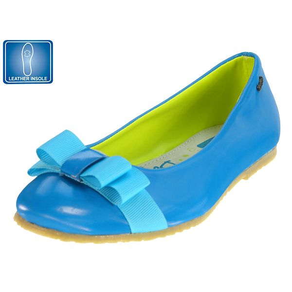 Dívčí modré balerínky s mašlí Beppi