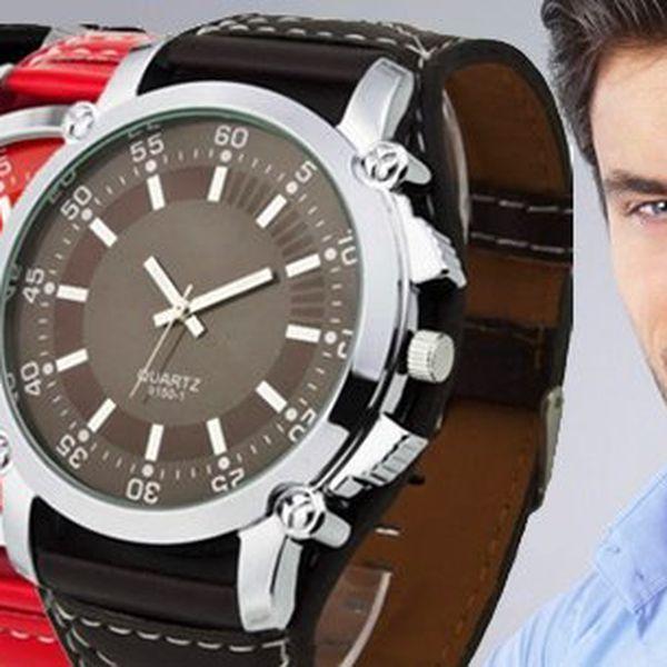 Elegantní pánské náramkové hodinky s výběrem z několika barev.