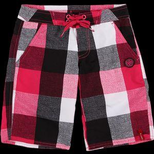 Dívčí šortky šortky sportovního střihu potisk v moderním kostkovaném designu