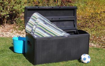 Zahradní úložný box na nářadí a polstry 415l., box Maxi - AKCE Zahradní box na nářadí a polstry 415 l. - AKCE