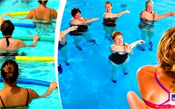 AQUA AEROBIC zábavné a velmi oblíbené cvičení ve vodě s využitím různých pomůcek v rytmu hudby. Aqua aerobic je vhodný proti bolesti zad, krční páteře a svalů a samozřejmě hubnutí. Hodinové cvičení pod dohledem odborné trenérky.