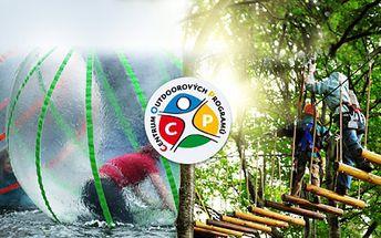 Proběhněte se po vodě, vyzkoušejte skvělý AQUAZORBING a užijte si báječné odpoledne ve vysokém LANOVÉM PARKU COP Slověnický mlýn! Aquazorbing + vstup do lanového parku! To je adrenalinová zábava za senzačních 149 Kč!