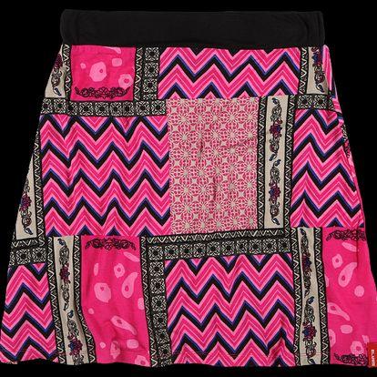 Dámská sukně SAM 73 WZ 91 118 v abstraktním designu - růžová tmavá