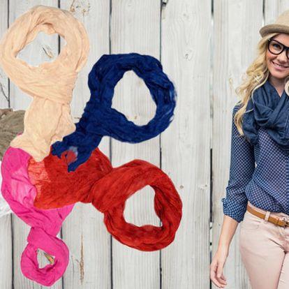 Jednobarevný šátek v barvě dle výběru, doprava zdarma