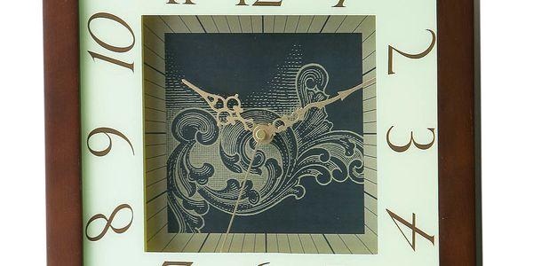 Dřevěné hodiny Dark Wood, 30 cm