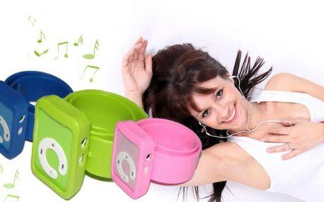 Praktický a elegantní SPORTOVNÍ MP3 PŘEHRÁVAČ se silikonovým páskem za pouhých 179 Kč včetně POŠTOVNÉHO! Vaše oblíbená muzika i při sportu, se slevou 53%!