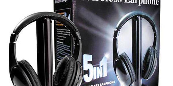 Bezdrátová sluchátka 5v1 - užijte si bezdrátovou svobodu!