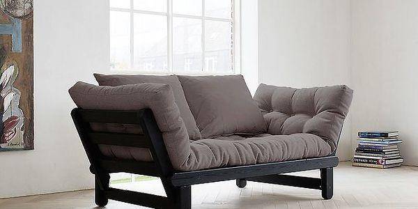 Rozkládací sofa KARUP BEAT PINE FSC BLACK/GRIS