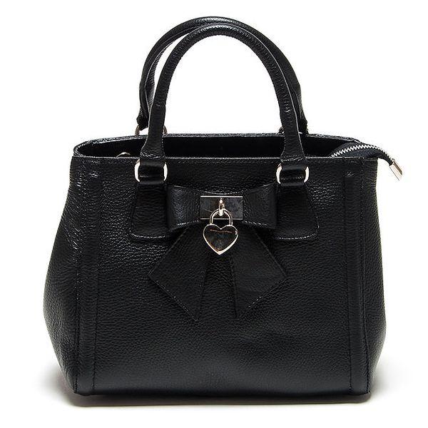 Dámská černá kabelka s mašličkou Renata Corsi