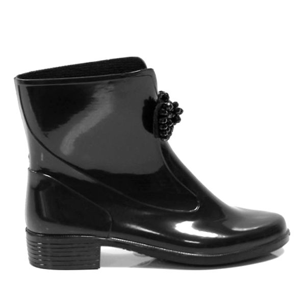 Dámské černé kotníkové boty s ozdobou Favolla
