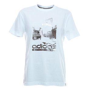 Pánské tričko s potiskem v bílé barvě Adidas