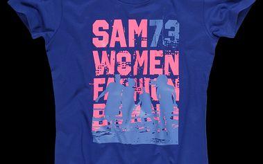 Dámské triko SAM 73 WT 456 235M modrý melír kobaltový