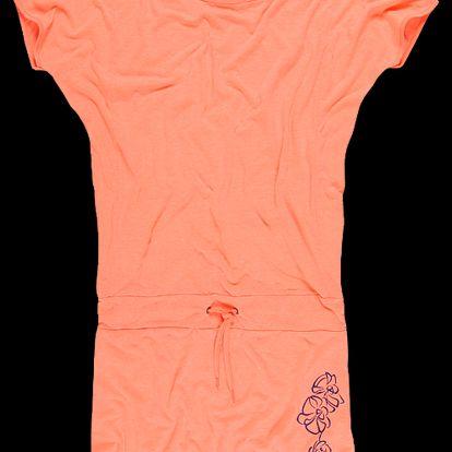 Dámské šaty SAM 73 WZ 95 168 lososová světlá neon