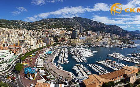 Prázdninový výlet do Monaka s dopravou tam i zpět