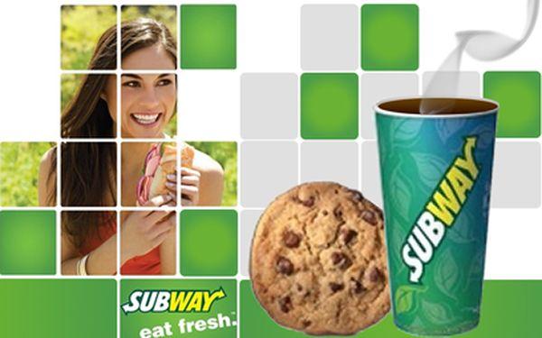 Cookie a káva v Subway za 45 Kč! Navíc 15% sleva na velký sendvič (30 cm)!