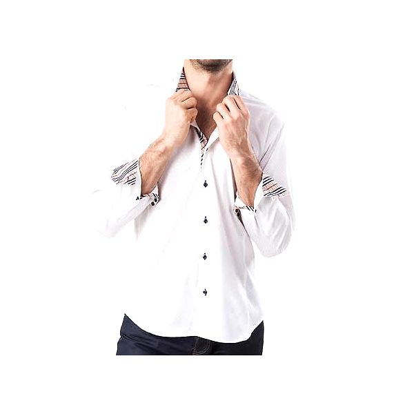 Pánská bílá košile s barevnými prvky Lexa Slater