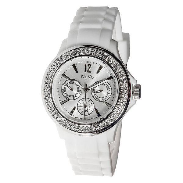 Bílé hodinky NuVo se Swarovski Elements