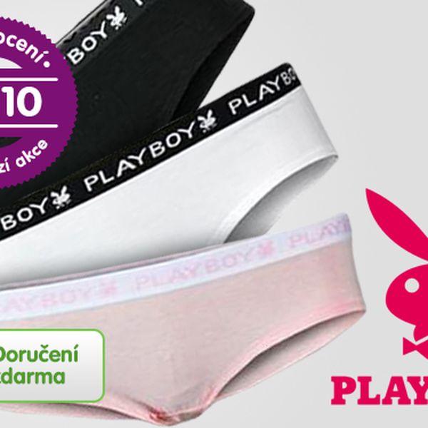 Troje dámské kalhotky Playboy