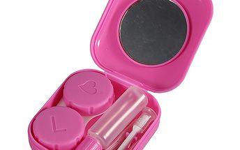 Růžové pouzdro na kontaktní čočky s výbavou a poštovné ZDARMA! - 9208894
