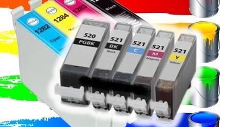 Kompatibilní sada náplní do tiskáren Canon a Epson. Jasné barvy, kvalitní inkoust speciální čip