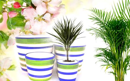 Sada Veselých keramických kvetináčov na skrášlenie interiérů aj exteriéru s poštovným ZA skvelú Cenové!