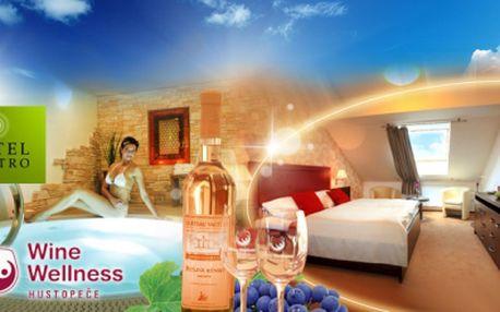 Luxusní WINE WELLNESS hotel Centro**** a pobyt s bohatou POLOPENZ! Romantická VEČEŘE, dokonalý 2hodinový relax ve Wine Wellness s MASÁŽÍ nebo peelingem a hra kuželek nebo kulečníku! Jen 3990 Kč PRO DVA! Sleva 47%!