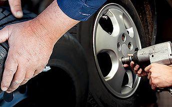 Kompletní přezutí pneumatik včetně závaží