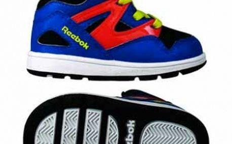 Dětské boty v nepřehlédnutelném designu - Reebok VERSA PUMP OMNI LITE černá/zelená/šedá